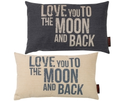 Kissen mit F�llung Emotion Moon and Back 30 x 50 cm