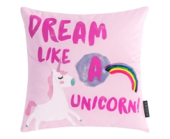 "Lovely Kissen ca. 40x40cm ""Dream Like A Unicorn"""
